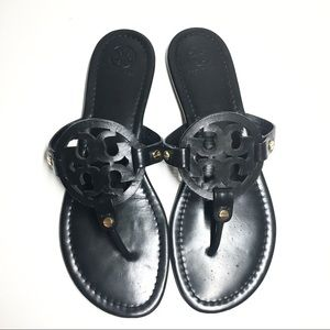 Tory Burch Shoes - Tory Burch Miller Matte Black Leather 10